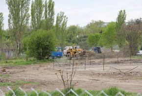 Demolări în Parcul Tineretului. Foto: Hotnews.